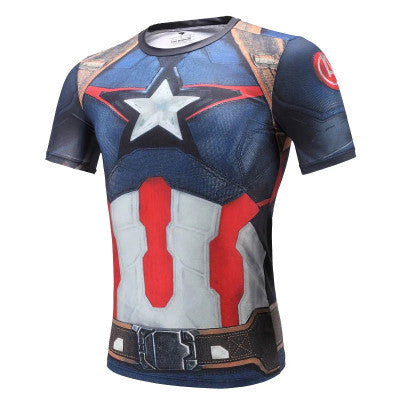 Captain America Superhero Compression Shirt - Youth