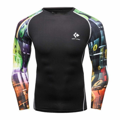 Codi Lundia MMA Long-Sleeve Compression Shirt - Casino