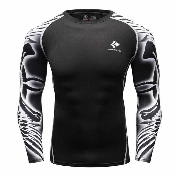 Codi Lundia MMA Long-Sleeve Compression Shirt - Rorschach Blots
