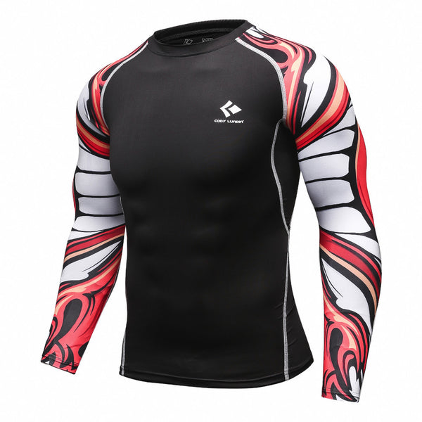 Codi Lundia MMA Long-Sleeve Compression Shirt - Warped Skull