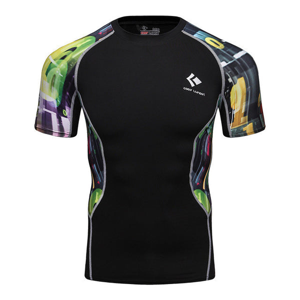 Codi Lundia MMA Short-Sleeve Compression Shirt - Casino