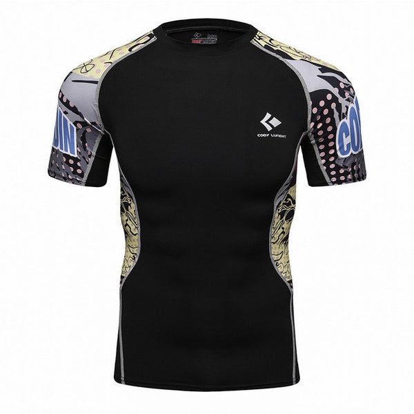 Codi Lundia MMA Short-Sleeve Compression Shirt - Comics