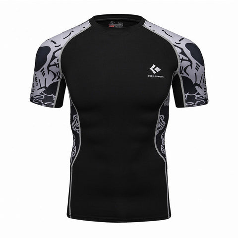 Codi Lundia MMA Short-Sleeve Compression Shirt - Grundge