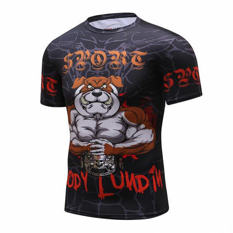 Cody Lundin Bulldog Fighting Champ Rash Guard
