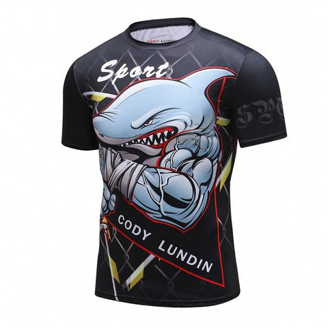Cody Lundin Muscle Shark MMA Rash Guard
