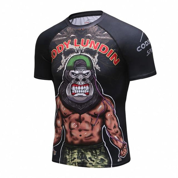 Cody Lundin Shredded Gorilla BJJ Rash Guard