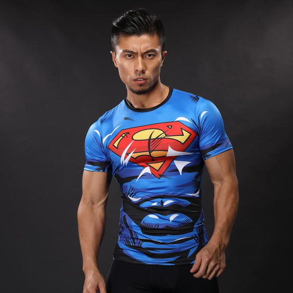 Comic Superman Compression Shirt - Short Sleeve