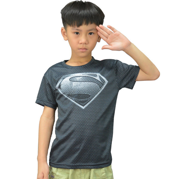 Dark Superman Compression Shirt - Youth