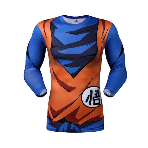 DBZ Goku's Gi Long-Sleeve Compression Shirt