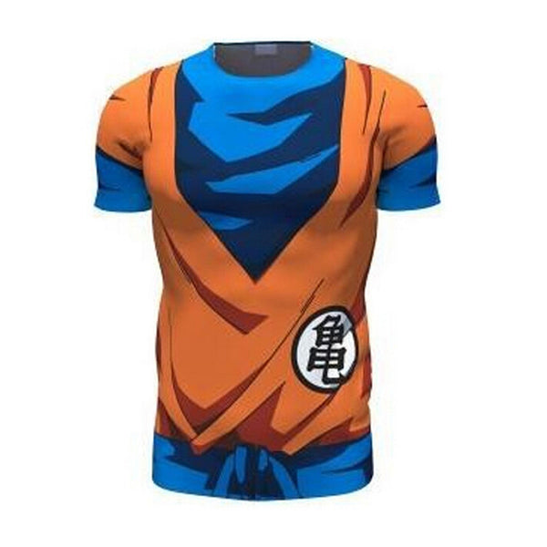 DBZ Goku's King Kai Gi Short-Sleeve Compression Shirt
