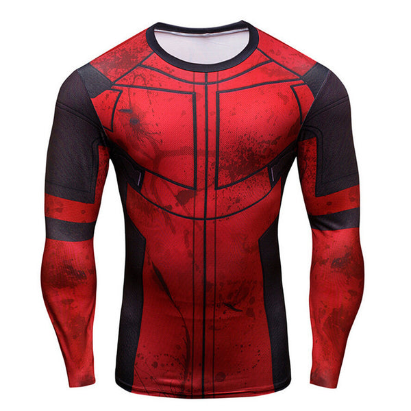 Deadpool Long-Sleeve Compression Shirt