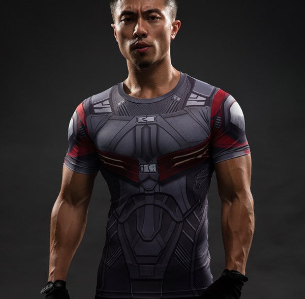 Falcon Superhero Short Sleeve Compression Shirt