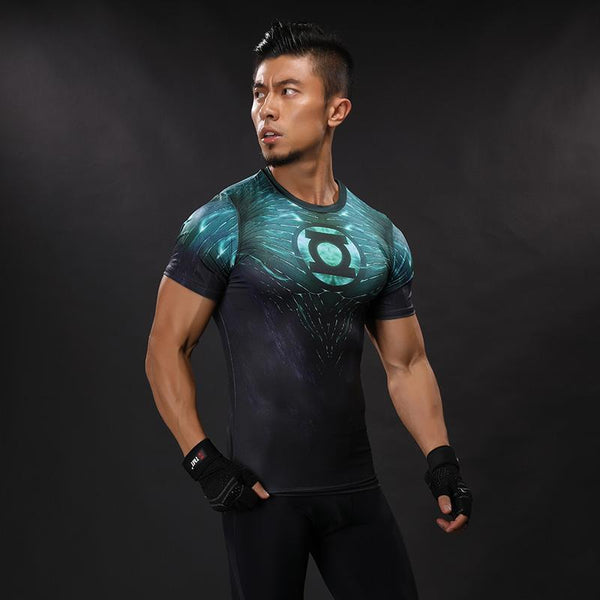 Green Lantern Rash Guard - Short Sleeve