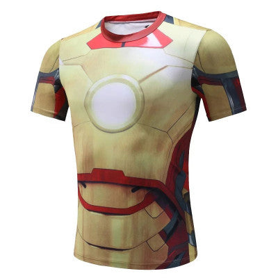 Ironman Superhero Compression Shirt - Youth