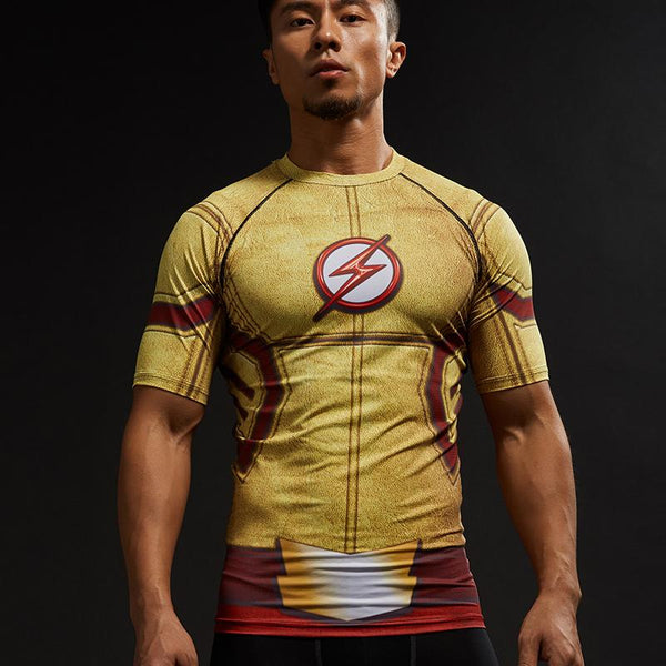 Kid Flash Short Sleeve Compression Shirt