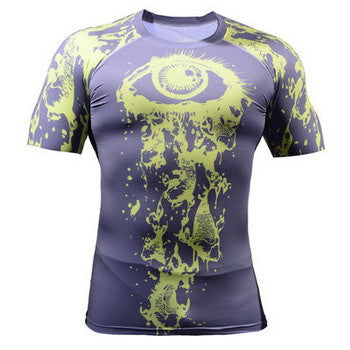 Life on Track Short-Sleeve Rash Guard - All Seeing Eye