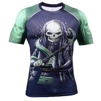 Life on Track Short-Sleeve Rash Guard - Grim Reaper