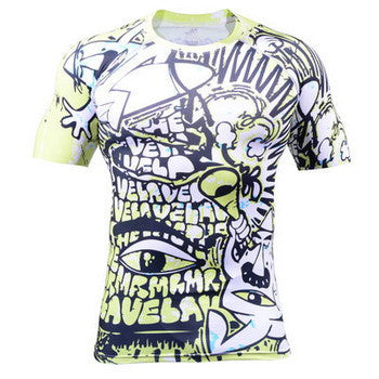 Life on Track Short-Sleeve Rash Guard - Manic Thoughts
