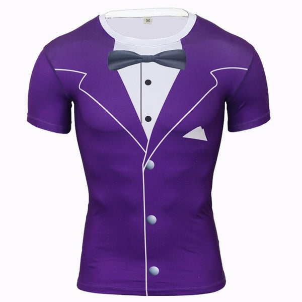Luxury Tuxedo Compression Shirt - Purple