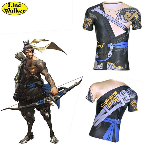 Overwatch Hanzo Compression Shirt
