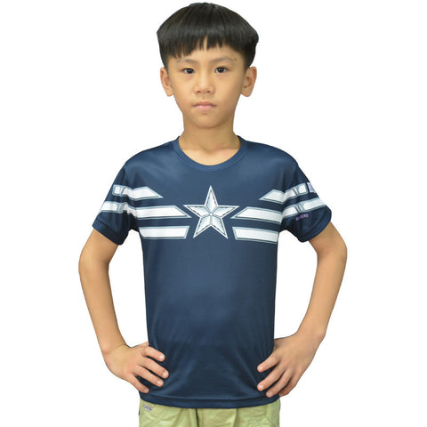 Steve Rogers Captain America Compression Shirt - Youth
