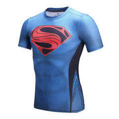 Superman Superhero Compression Shirt - Youth