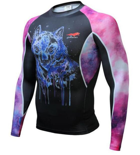 TUNSECHY Alpha BJJ Rash Guard - Long-Sleeve