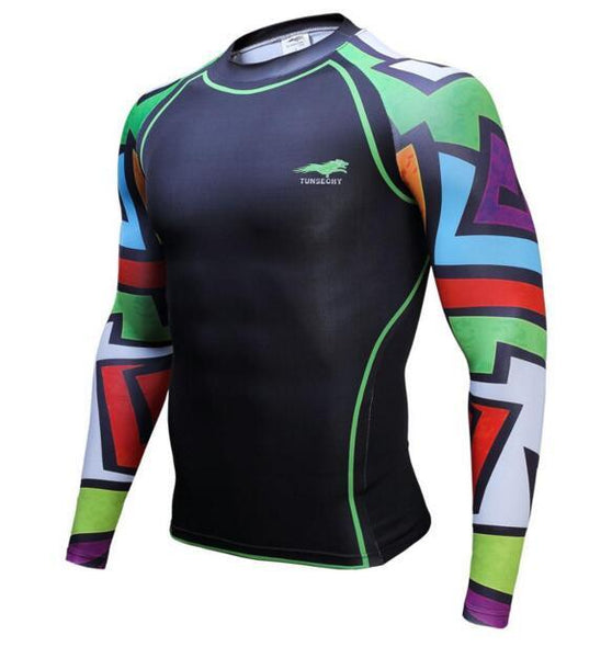 TUNSECHY Bold BJJ Rash Guard - Long-Sleeve