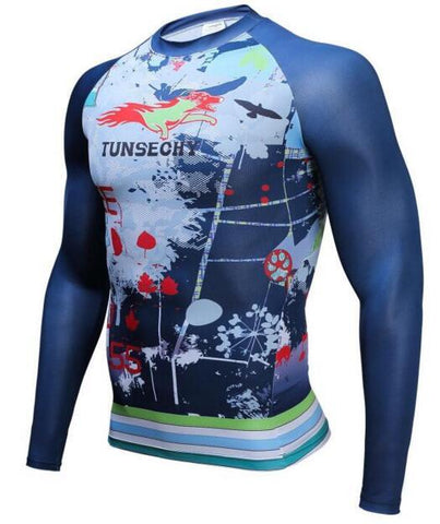 TUNSECHY Fox BJJ Rash Guard - Long-Sleeve