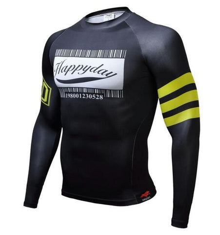 TUNSECHY Happy Friday BJJ Rash Guard - Long-Sleeve
