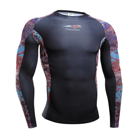 TUNSECHY Imperial BJJ Rash Guard - Long-Sleeve