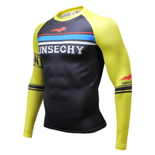 TUNSECHY Racing BJJ Rash Guard - Long-Sleeve