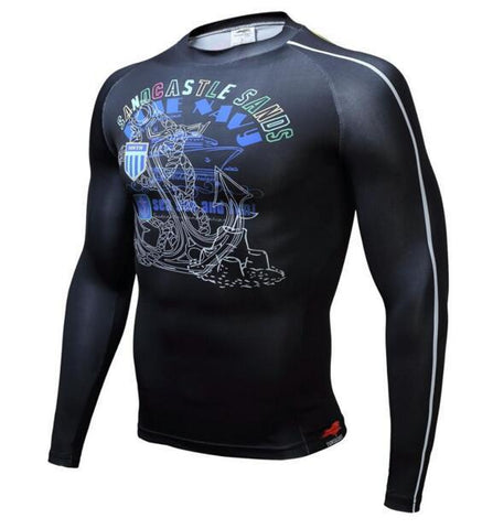 TUNSECHY Sandcastle BJJ Rash Guard - Long-Sleeve