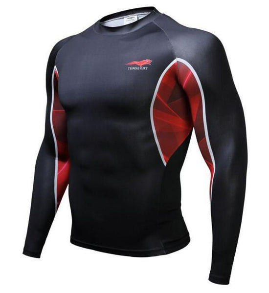 TUNSECHY Sport BJJ Rash Guard - Long-Sleeve