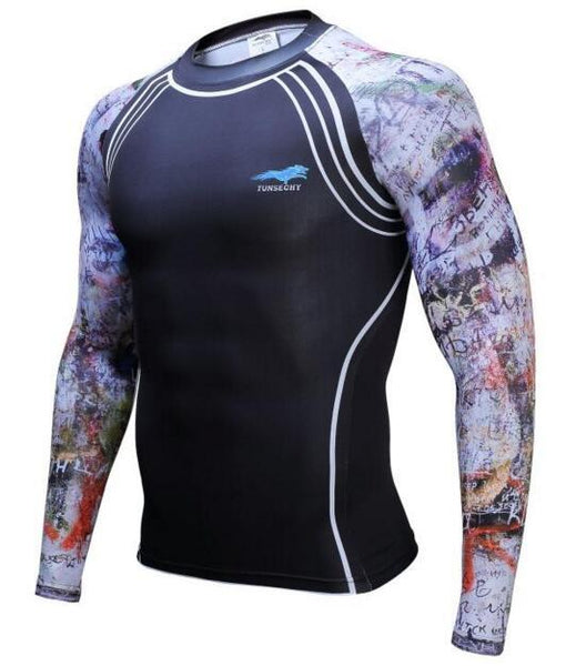 TUNSECHY Urban BJJ Rash Guard - Long-Sleeve