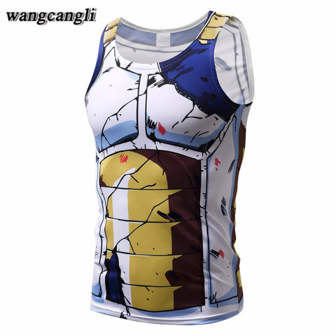 Vegeta Battle Damaged Armor DBZ Compression Tank Top
