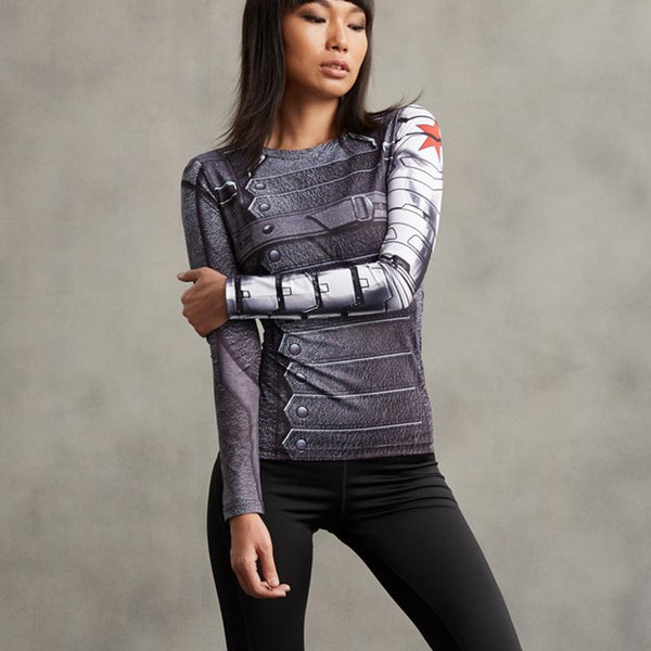 Winter Soldier Female Compression Shirt