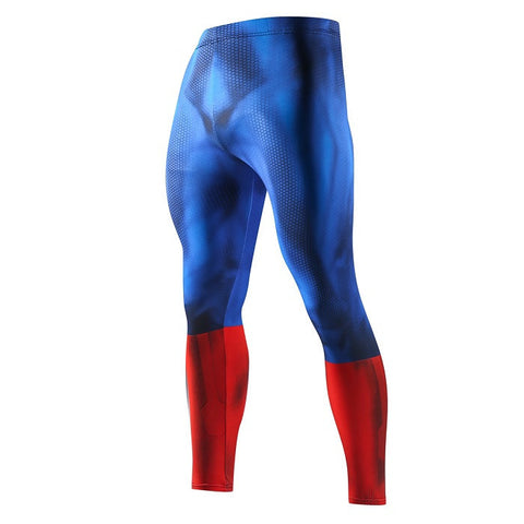 Captain America Compression Leggings