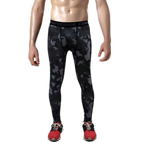 Combat121 Compression Pants- Black Camo