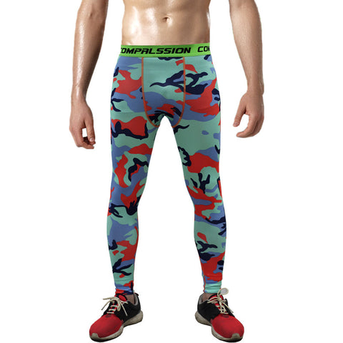 Combat121 Compression Pants - Fall Camo