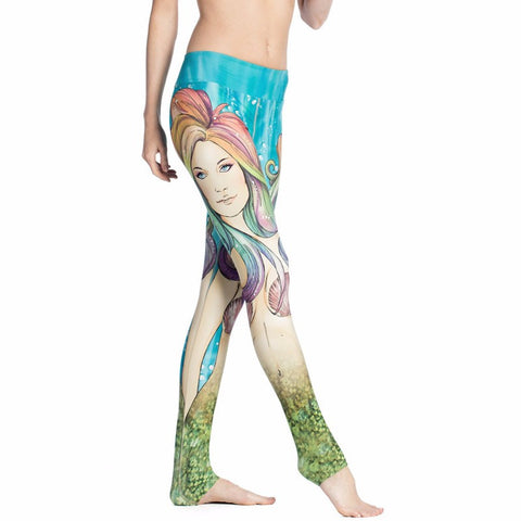 Combat121 Female BJJ Compression Spats - Mermaid