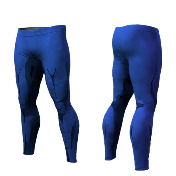 DBZ Vegeta Cell Armor Compression Spats