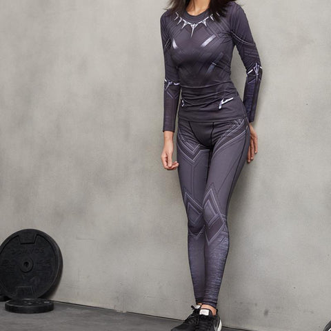 Female Black Panther Compression Leggings