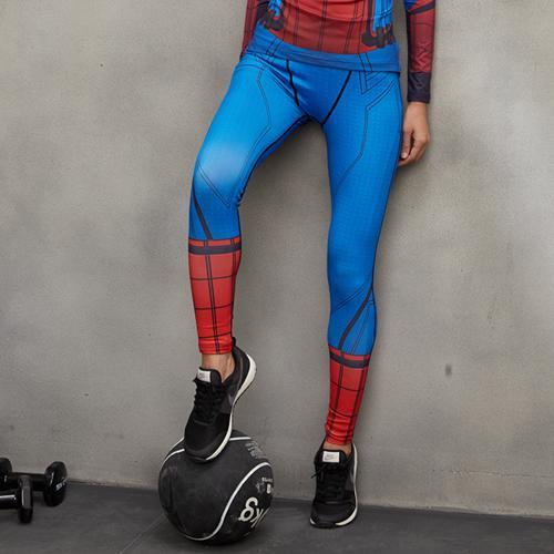 Female Spiderman Compression Leggings