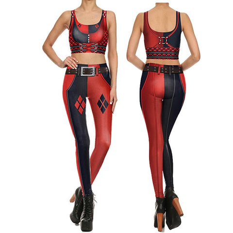 Harley Quinn Compression Tank Top + Leggings