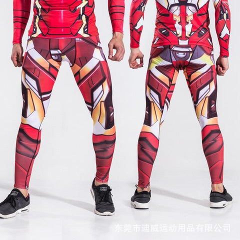 Ironman Superhero Compression Spats
