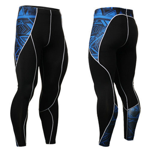 Life on Track Blue Warrior Ink Compression Spats