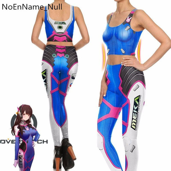 Overwatch Female D.Va Compression Tank Top + Leggings