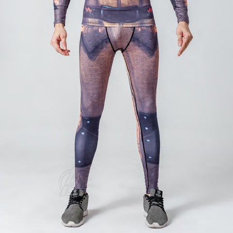 Reverse Flash Superhero Compression Spats