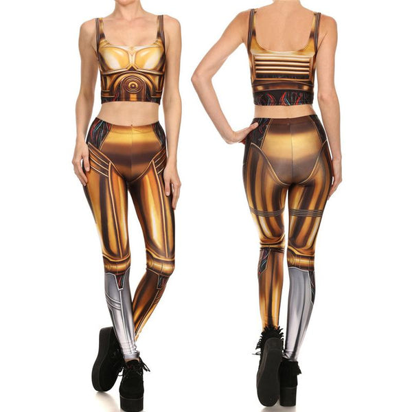 Star Wars Female C3PO Compression Tank Top + Leggings